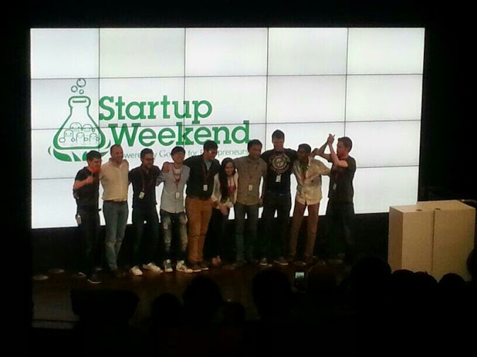 The Simplifly team, winners of Startup Weekend Dublin 2014